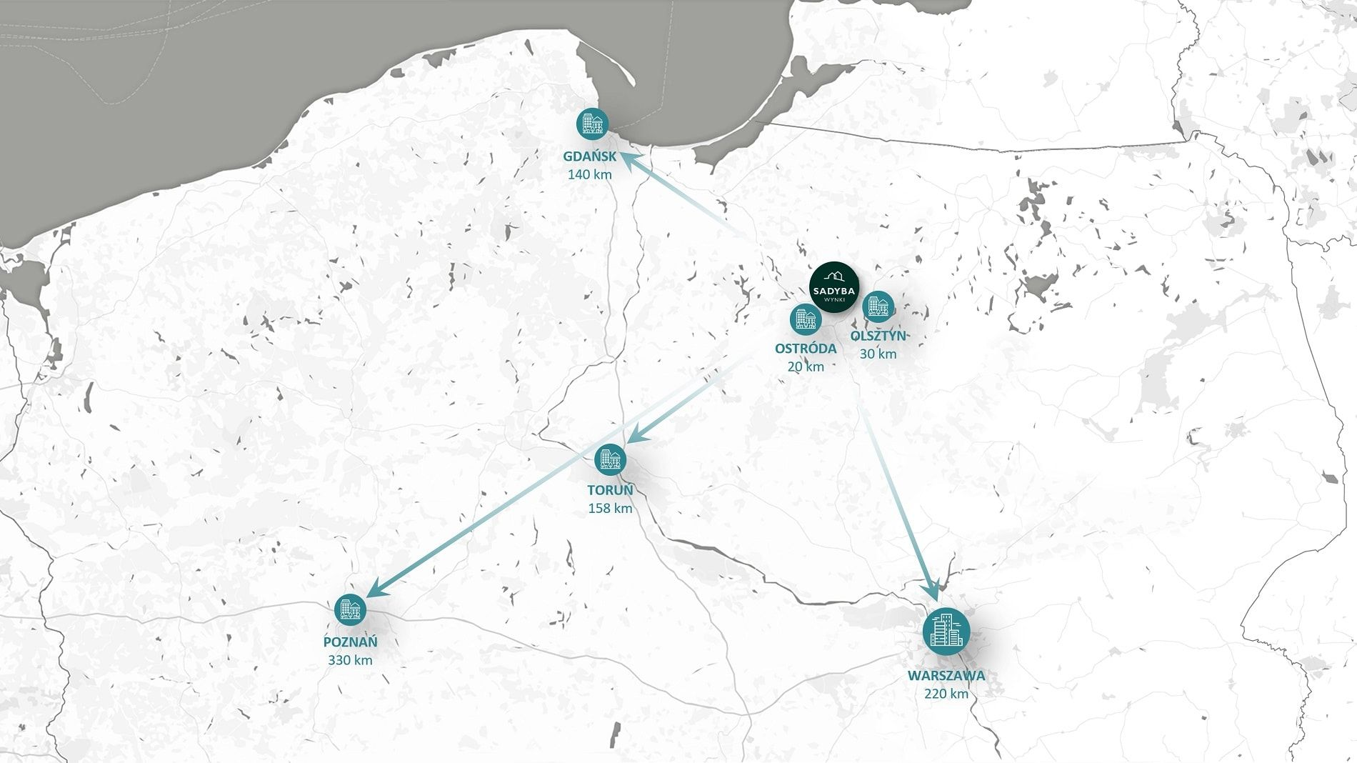 mapa lokalizacji Sadyba Wynki